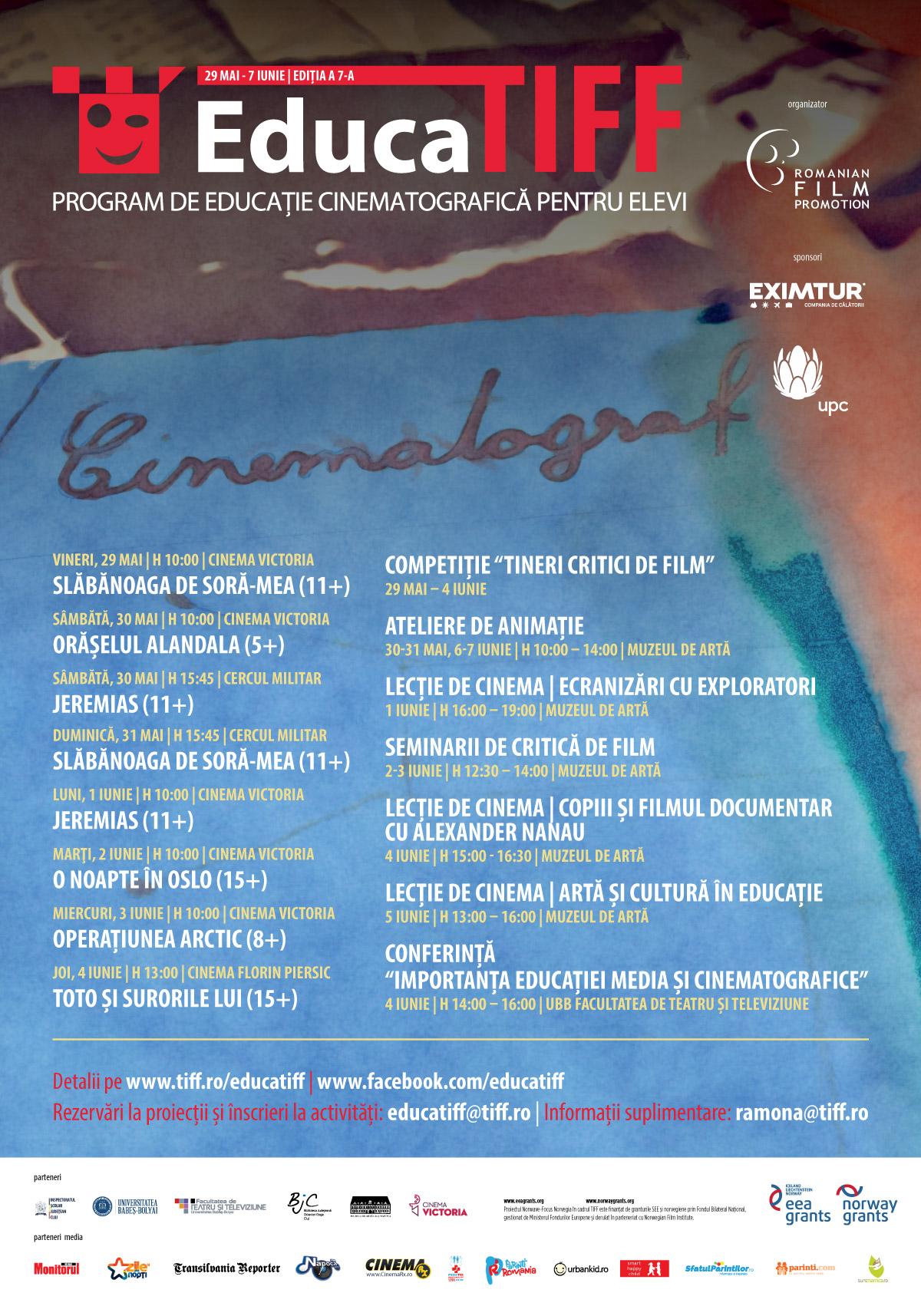 Afis program EducaTIFF 2015